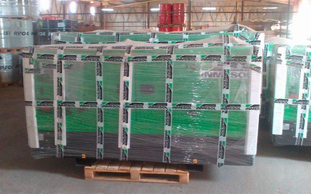 Grupos eletrogéneos Inmesol em stock nas instalações da NGRC em Luanda (Angola)