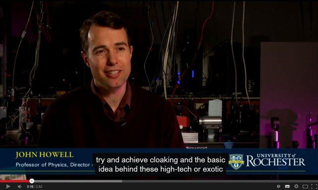 professor de Física da Universidade de Rochester John Howell