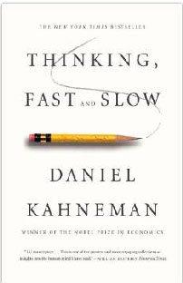 Rápido e Devagar, duas formas de pensar, de Daniel Kahneman