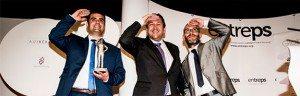 Ramón Solano, diretor comercial da Inmesol, recebe o Prémio Entreps Energia 2015
