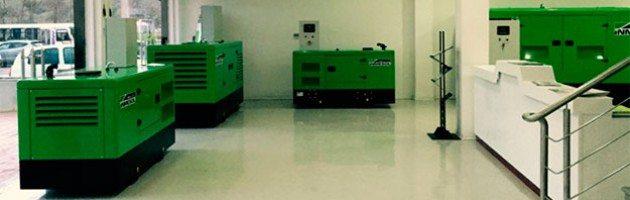 Grupos eletrogéneos Inmesol expostos nas novas instalações da Sarl Obi