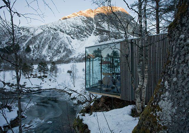 Imagem de ©Knut Bry tirada do site do Juvet Hotel