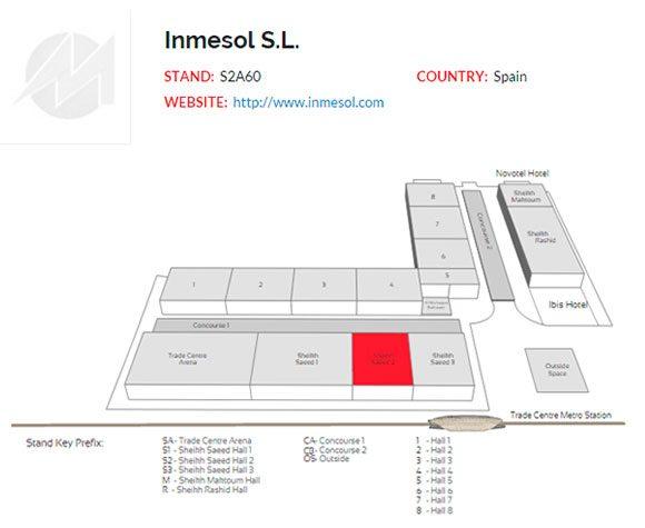 Situação do estande da INMESOL dentro do World Trade Centre de Dubai