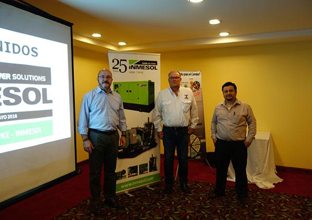 Luis Navarro, da INMESOL, Eng.º Allan Rasch, Topke, e Eng.º Boris G., de León