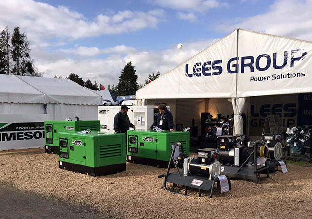 Estande da LEES GROUP Power Solutions na National Agricultural Fieldays