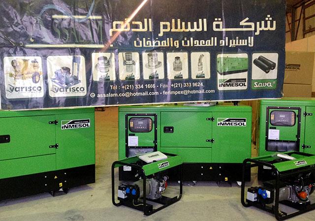 Os grupos electrogeneos de eleição de entre os produtos de fornecimento industrial que a Assalam Addaem distribui