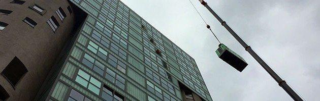 Instalação de um Grupo Electrogéneo num dos Edifícios mais altos do Porto de Hamburgo