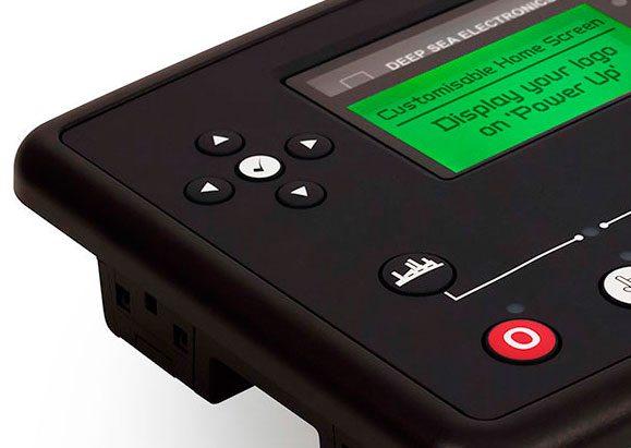 Centralina DSE73XX MKII com ecrã disponível para ser personalizado