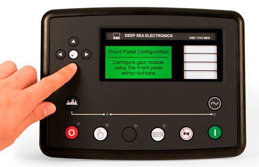 Centralina electrónica DSE73XX MKII com ecrã disponível para ser personalizado