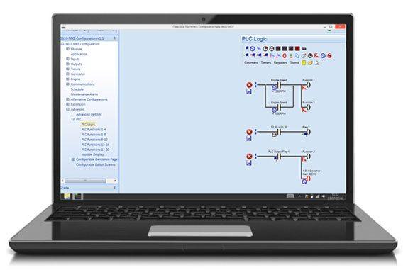 Exemplo de um esquema lógico para o PLC dentro do Config. Suite