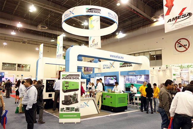 Sistemas de geração de energia INMESOL expostos na Expo Eléctrica Internacional 2017