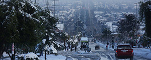 Energia de emergência da INMESOL durante a maior nevasca dos últimos 10 anos em Santiago do Chile