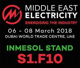 INMESOL no Oriente Médio Eletricidade 2018 no estande S1.F10