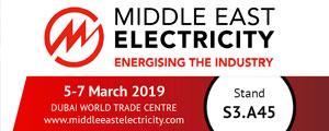 Tudo está pronto na INMESOL para o próximo evento: o MEE 2019, MIDDLE EAST ELECTRICITY no Dubai, EMIRADOS ÁRABES UNIDOS